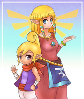 Zelda and Tetra by CheloStracks