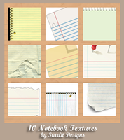 10 Notebook Textures by mystique87
