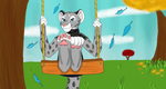 Swinging in Autumn for therealblacklion by SolitaryGrayWolf