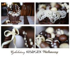 chocolate Easter basket by wigur