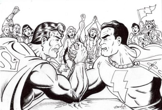 Superman vs. Shazam by Earth2Chris