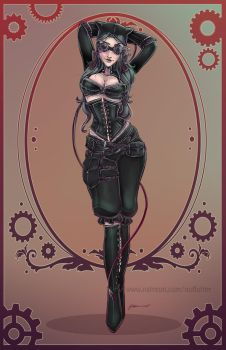 New Alternate Victorian Catwoman 2015 by NoFlutter