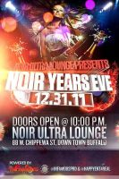 Noir Years Eve Party Flyer by V1sualPoetry