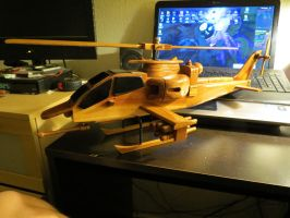 Wooden Helicopter by EROCKERTORRES