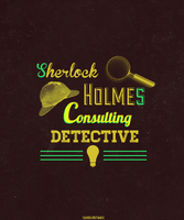 Sherlock Holmes Typography by cumberlord