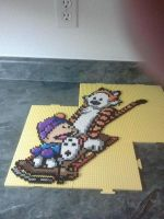Perler Calvin and Hobbes by rushtalion
