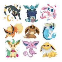 Eeveelutions by doingwell