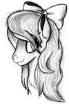 Flitter Portrait Sketch by AncientOwl