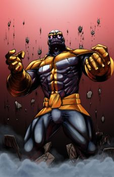 Thanos Rising colored by madd-sketch