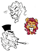Sly C. - Ludwig the Fancy Lion by KaylaTheDragoness