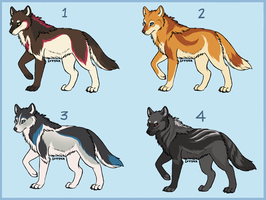 NYOP Wolf Adopts! [ CLOSED ] by Lucernne