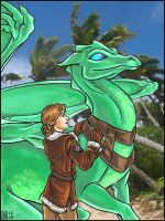 Pern: Lina and Tayath by Eregyrn