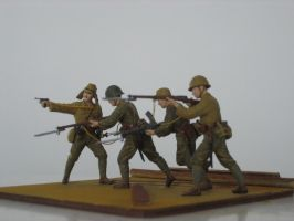 Imperial Soldiers, Iwo Jima 1945 by AnAspieInPoland