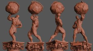 Statue for Bodybuilding Trophy by Kravit