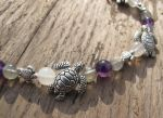 Silver and Shell Turtle Bracelet Closeup 1 by Windthin