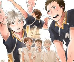 [Haikyuu!!] 3rd years by a-zebra-was-here
