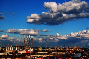 Clouds over Constanta Port by geographu