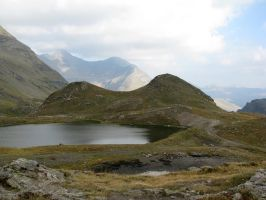 Mountain 321- lake on the top by Momotte2stocks