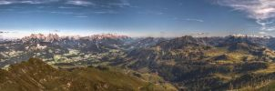 view from the Kitzbuehler Horn by Latitude1979