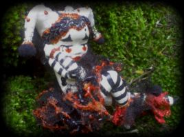 Harlequin Mime Art Doll by LindaJaneThomas