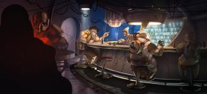 Space Pirate Bar by MeckanicalMind