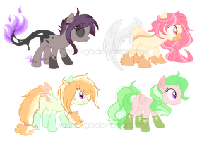 ~Adoptables~. Random Ponies :CLOSED: by XantaL-XGB
