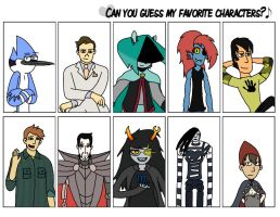 Can You Guess My Favorite Characters? Meme by ForestBugDA
