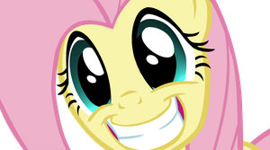 fluttershy happy by Nightmaree-moon-sis