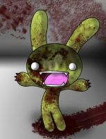 Tombie the Zombie Bunny by Darth-Spanky