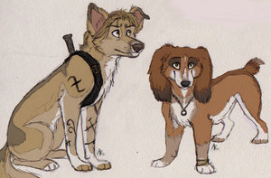 Dogified Jace and Clary by Deesney
