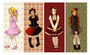 Lolita bookmarks by Mirabel-chan