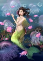 Mermaid Commission by WiskyLittle