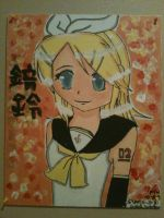 Kagamine Rin Painting by MissKirie