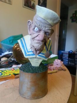 Painted Popeye Bust by logan250