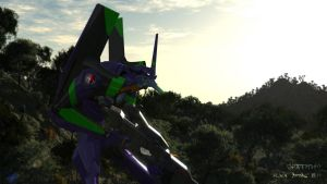 EVA 01 on Forest 2 by Xanatos4