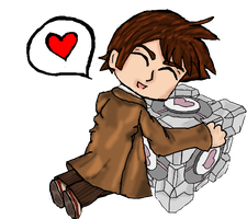 The Doctor's Companion Cube by AngeloftheHalfMoon