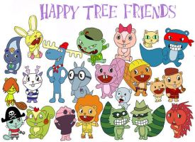 happy tree friends by virginia23