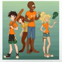 Percy Jackson and Co. by GildingofNightfall
