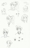 Random Elementary AU sketches by melonstyle