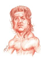 Rambo Caricature by StDamos