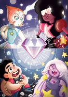 The Crystal Gems by Papercloudzy