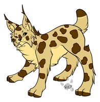 Spotty Lynx Adopt open by RayTheBishie