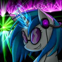 Vinyl Scratch :Collab with Silverfox057: by Aya-dono