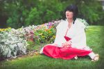 Kikyo Taking a Break [Inuyasha Cosplay] by firecloak