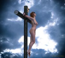 Red hair Female Christ by passionofagoddess