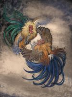 Cock Fight AdobePhotoshop by HouseofChabrier