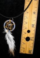 Crystal glacier dreamcatcher necklace by Lyrak