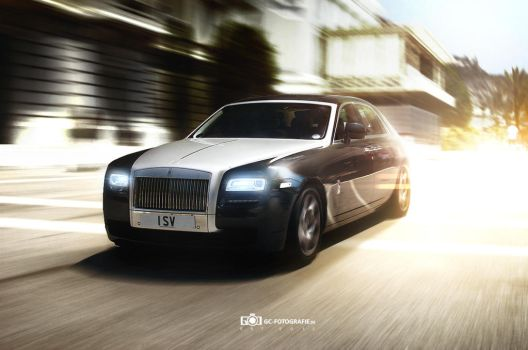 Rolling Rolls Royce Ghost by GandCphotography