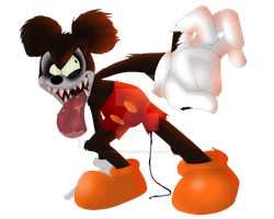 Runaway Brain Mickey Mouse by ToxicSoul77