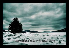 Winter at the Lake 2 by PoisonAlice